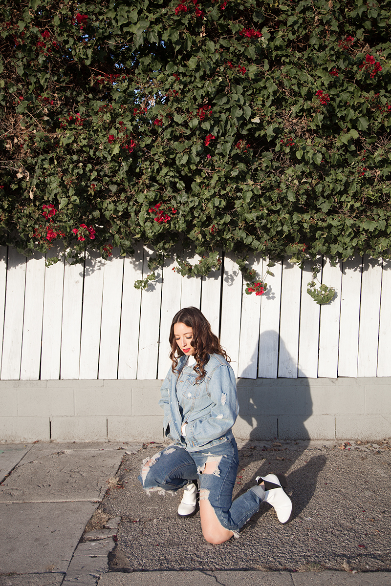 5412c6f9cb5447 Another look that I'm all about is denim on denim as seen above. The best  way to wear a double denim look is to have your denim colors be close in  shade, ...