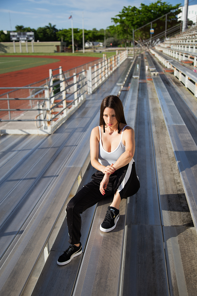 Athleisure Style featured by popular Los Angeles fashion blogger, Nomad Moda