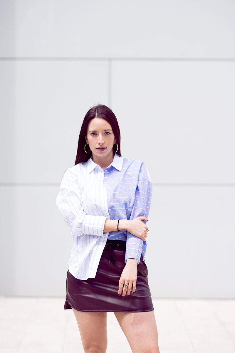 Striped Cotton Shirt outfit styled by popular Los Angeles fashion blogger Nomad Moda